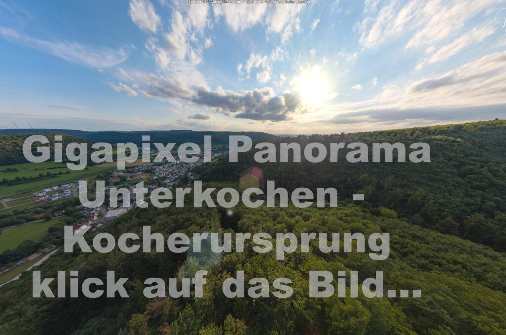 Sphären Gigapixel-Panorama Unterkochen Kocherursprung Ostalbkreis Aalen Ellwangen Abtsgmünd Neubronn Heidenheim Oberkochen Nördlingen Donau-Ries Baden Württemberg